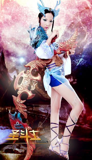 龙斗士美女 演绎东方斗士的精神